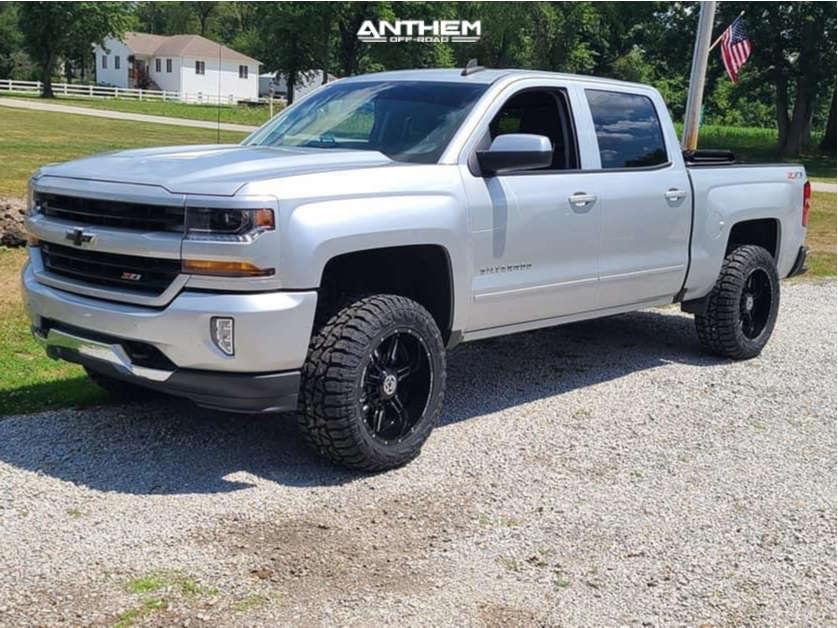 1 2016 1500 Chevrolet Motofab Suspension Lift 3in Anthem Off Road Equalizer Black