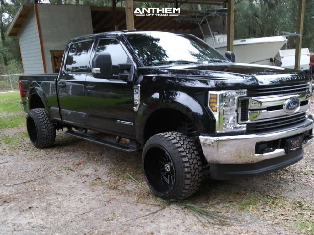 2 2019 F 250 Super Duty Ford Leveling Kit Suspension Lift 25in Anthem Off Road Equalizer Machined Black