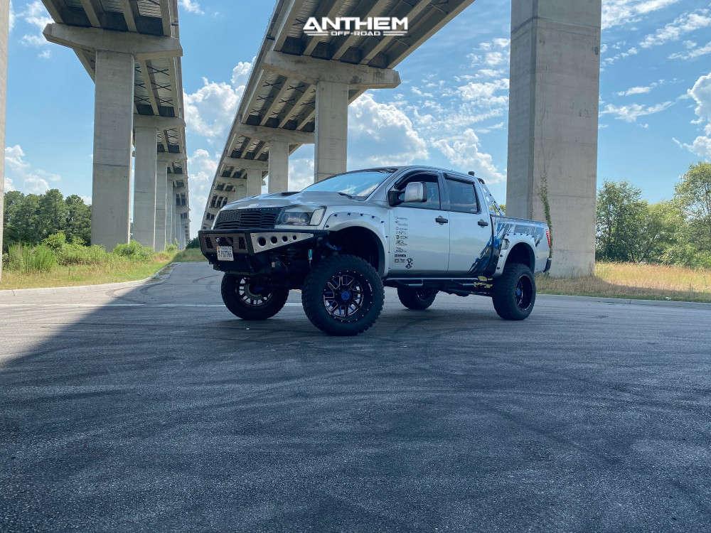 14 2006 Titan Nissan King Off Road Suspension Lift 6in Body 3in Anthem Off Road Gunner Blue