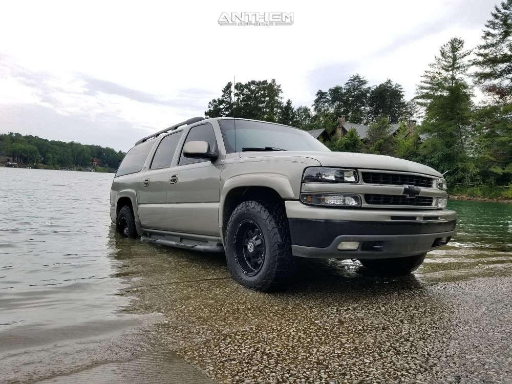 1 2001 Suburban 1500 Chevrolet Stock Air Suspension Anthem Off Road Defender Black