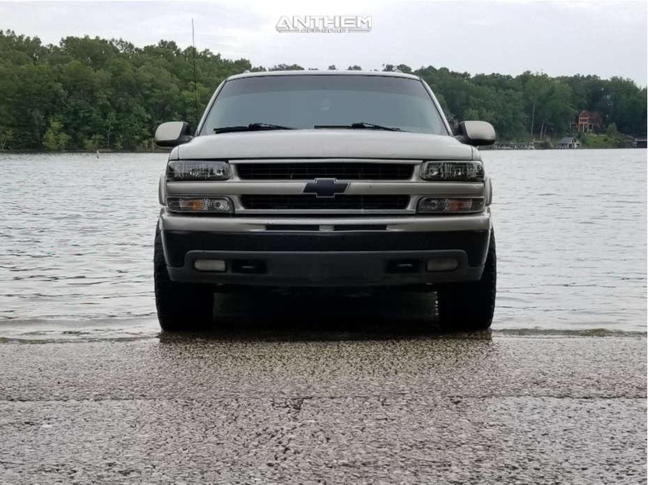 2 2001 Suburban 1500 Chevrolet Stock Air Suspension Anthem Off Road Defender Black
