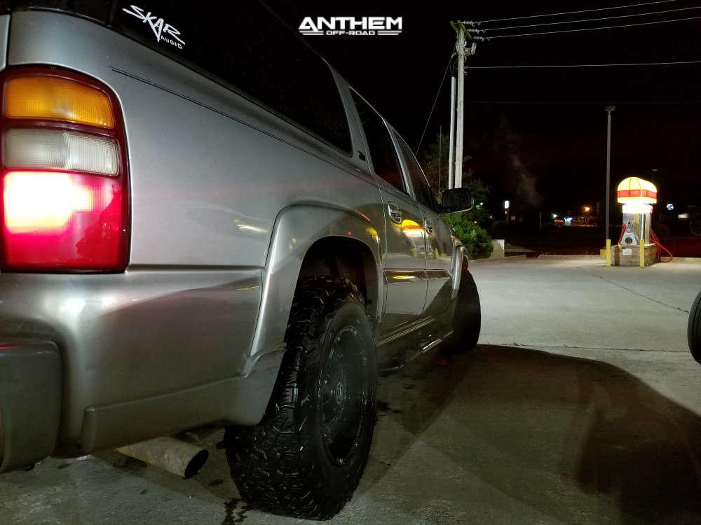 4 2001 Suburban 1500 Chevrolet Stock Air Suspension Anthem Off Road Defender Black
