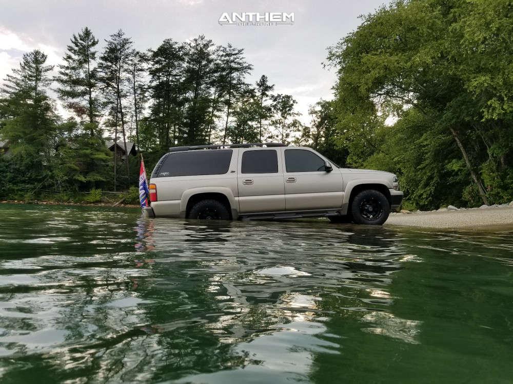 5 2001 Suburban 1500 Chevrolet Stock Air Suspension Anthem Off Road Defender Black