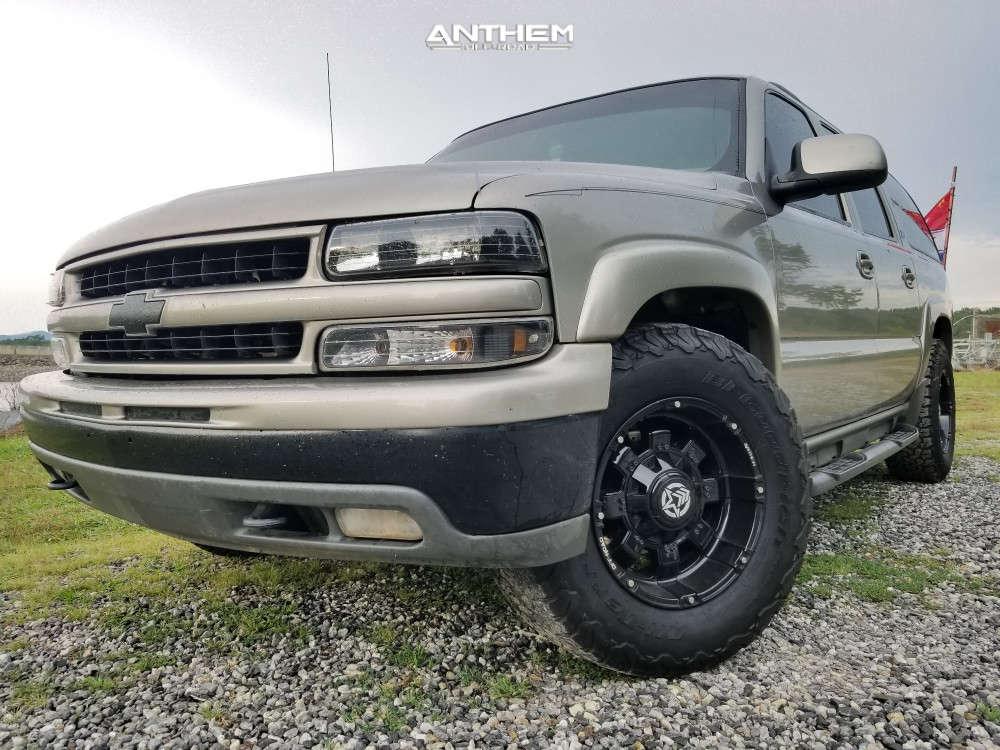 8 2001 Suburban 1500 Chevrolet Stock Air Suspension Anthem Off Road Defender Black