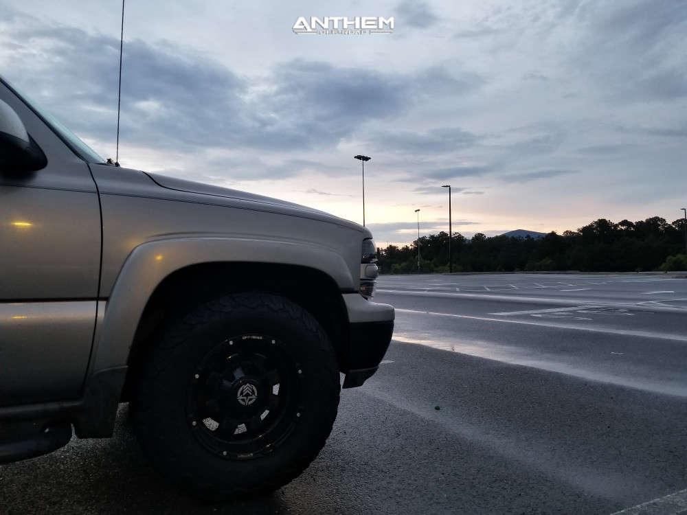9 2001 Suburban 1500 Chevrolet Stock Air Suspension Anthem Off Road Defender Black