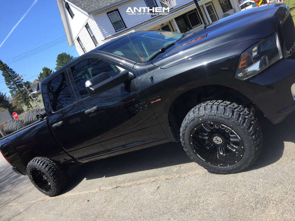 4 2017 1500 Ram Rough Country Suspension Lift 25in Anthem Off Road Enforcer Black