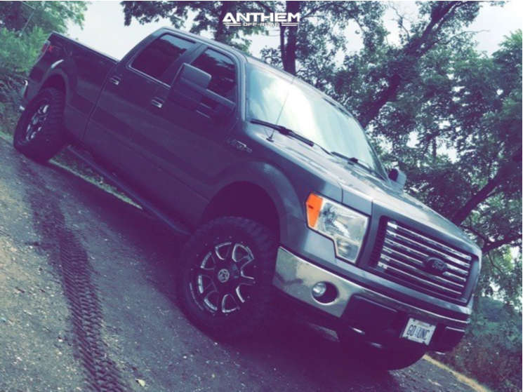 2 2012 F 150 Ford Custom Leveling Kit Anthem Off Road Commander Machined Black