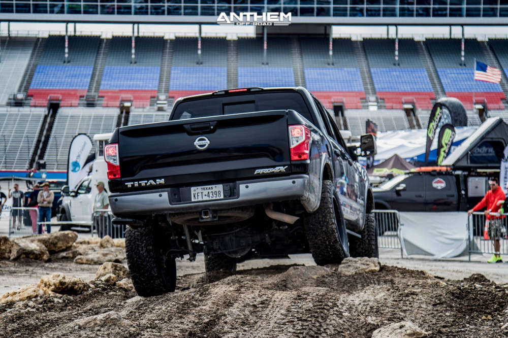 3 2017 Titan Nissan Rough Country Suspension Lift 6in Anthem Off Road Gunner Matte Black