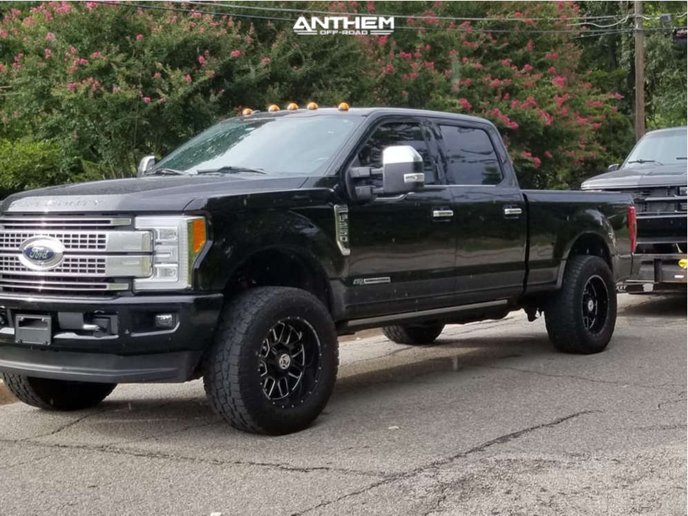 8 2017 F 250 Super Duty Ford 2 Inch Level Stock Anthem Off Road Gunner Machined Black