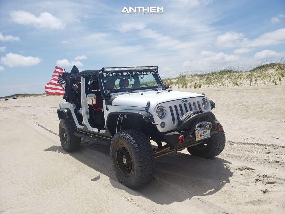 13 2015 Wrangler Jk Jeep Base Metalcloak Suspension Lift 35in Anthem Off Road Instigator Matte Black