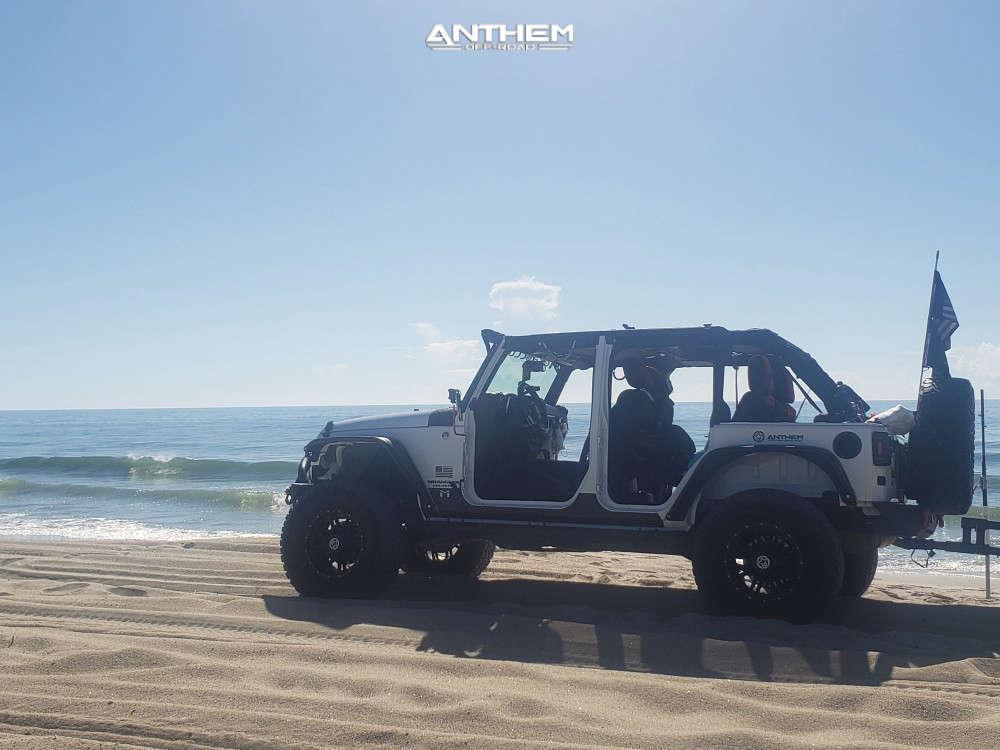 4 2015 Wrangler Jk Jeep Base Metalcloak Suspension Lift 35in Anthem Off Road Instigator Matte Black