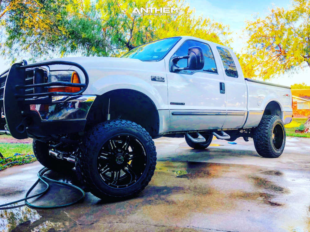 1 1999 F 250 Super Duty Ford Rough Country Suspension Lift 6in Anthem Off Road Equalizer Black