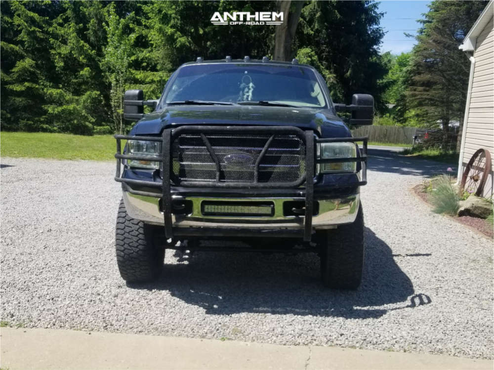 2 2005 F 250 Super Duty Ford Rough Country Suspension Lift 6in Anthem Off Road Enforcer Black