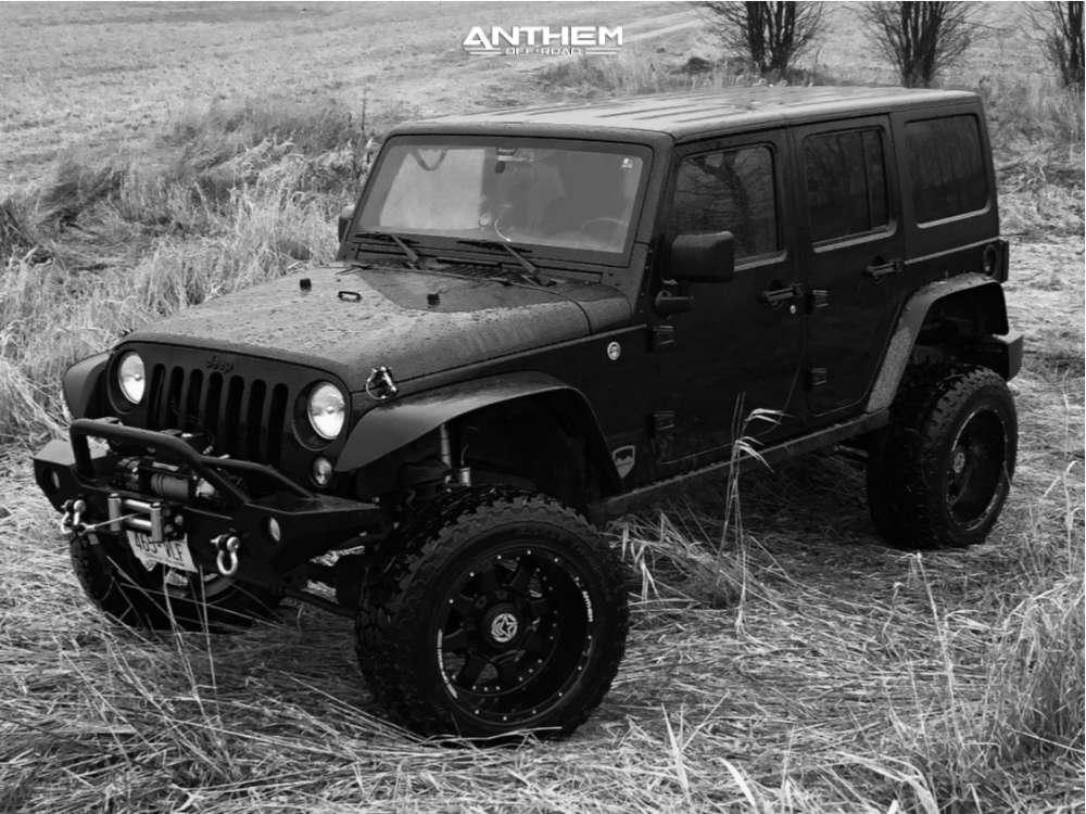 12 2016 Wrangler Jk Jeep Base Teraflex Suspension Lift 4in Anthem Off Road Aviator Black