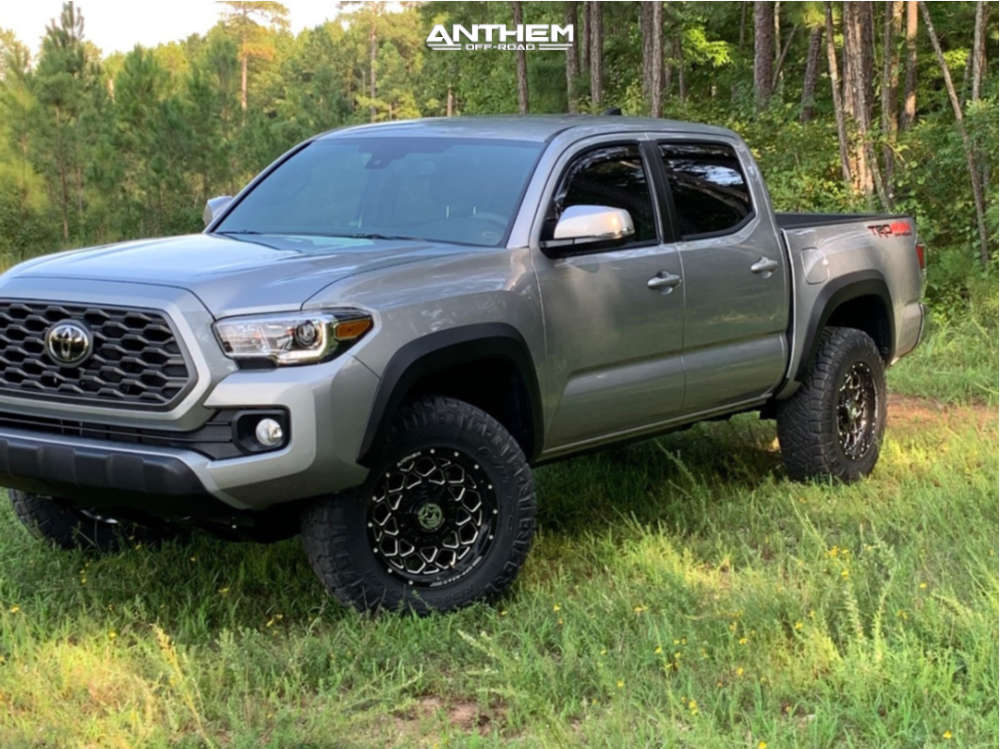 1 2020 Tacoma Toyota Stock Air Suspension Anthem Off Road Avenger Machined Black