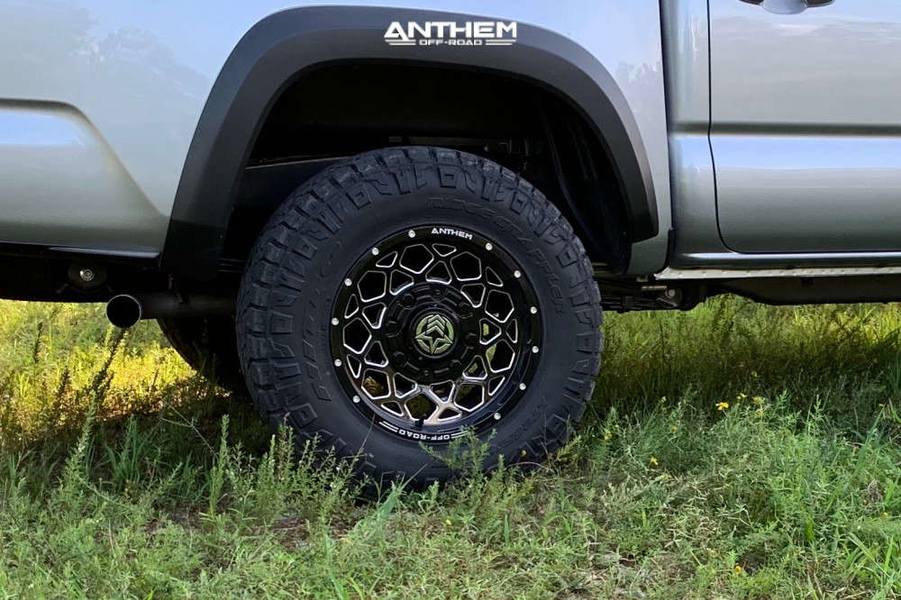 11 2020 Tacoma Toyota Stock Air Suspension Anthem Off Road Avenger Machined Black