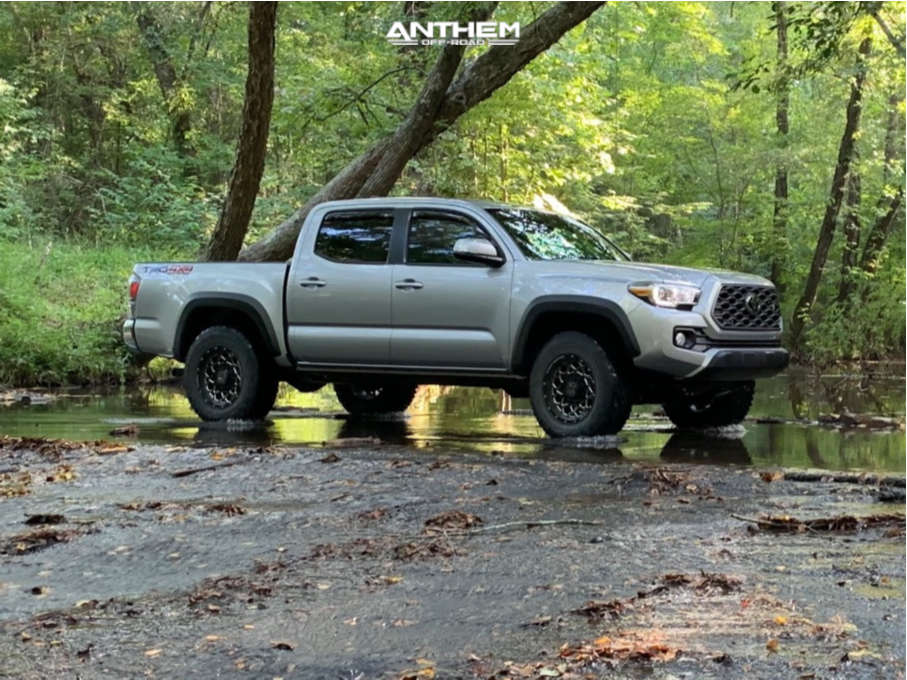 12 2020 Tacoma Toyota Stock Air Suspension Anthem Off Road Avenger Machined Black