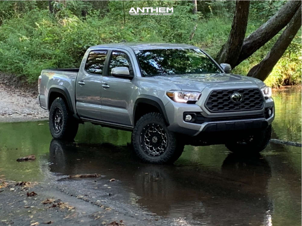 13 2020 Tacoma Toyota Stock Air Suspension Anthem Off Road Avenger Machined Black
