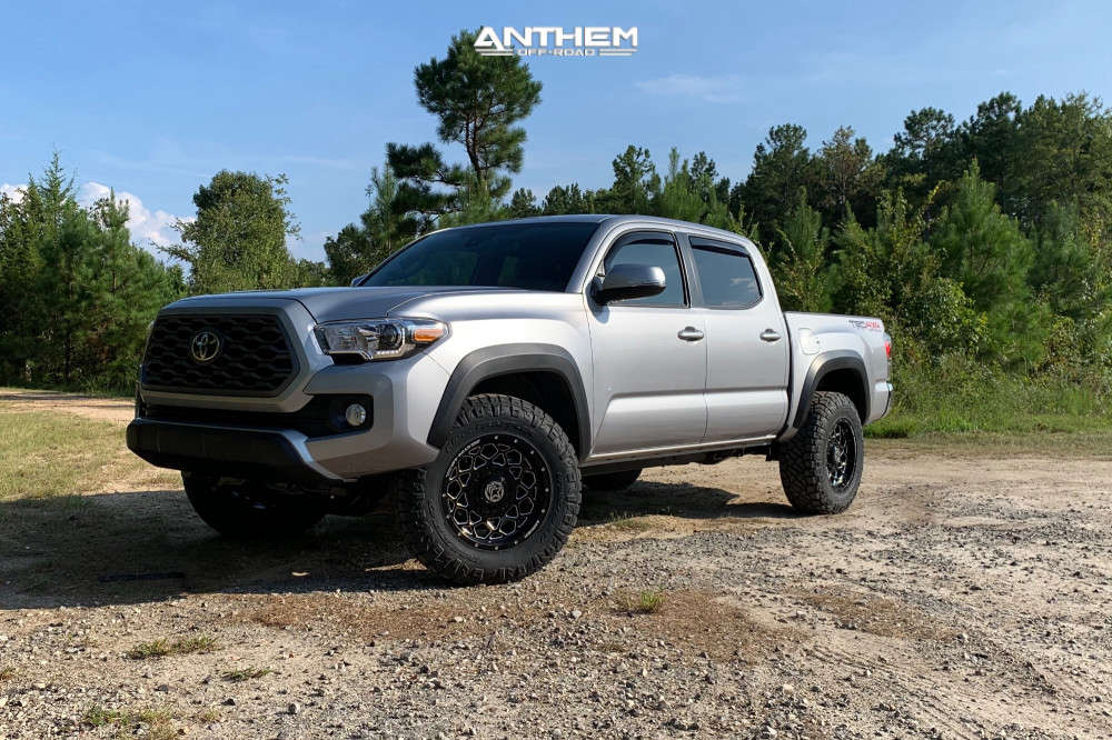 14 2020 Tacoma Toyota Stock Air Suspension Anthem Off Road Avenger Machined Black