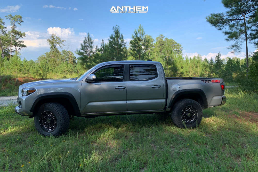 16 2020 Tacoma Toyota Stock Air Suspension Anthem Off Road Avenger Machined Black