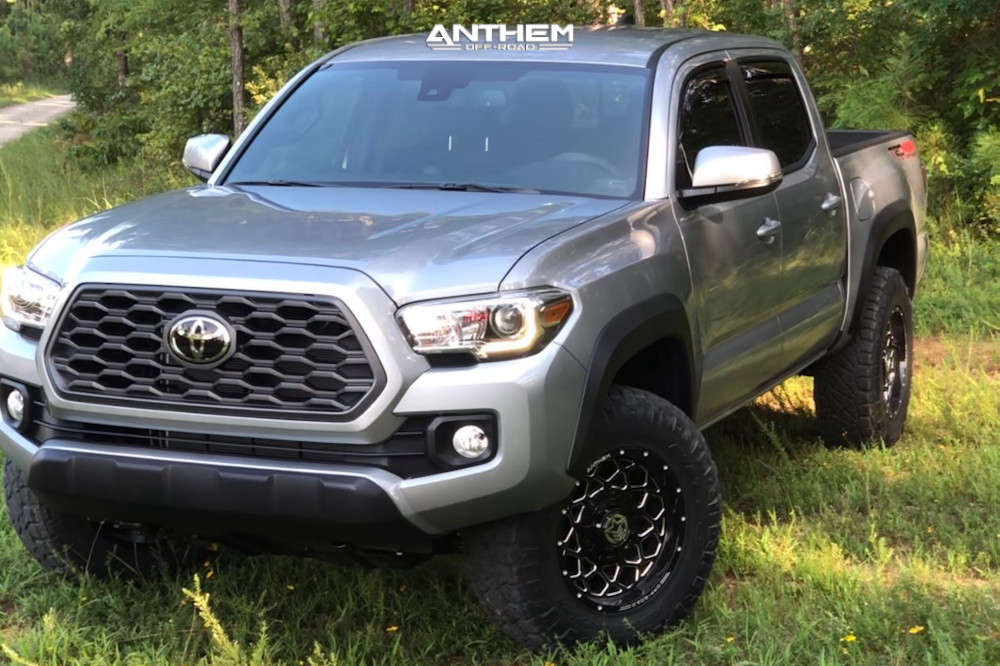 2 2020 Tacoma Toyota Stock Air Suspension Anthem Off Road Avenger Machined Black