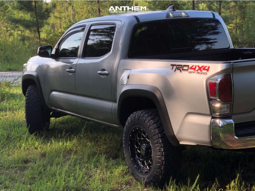 4 2020 Tacoma Toyota Stock Air Suspension Anthem Off Road Avenger Machined Black