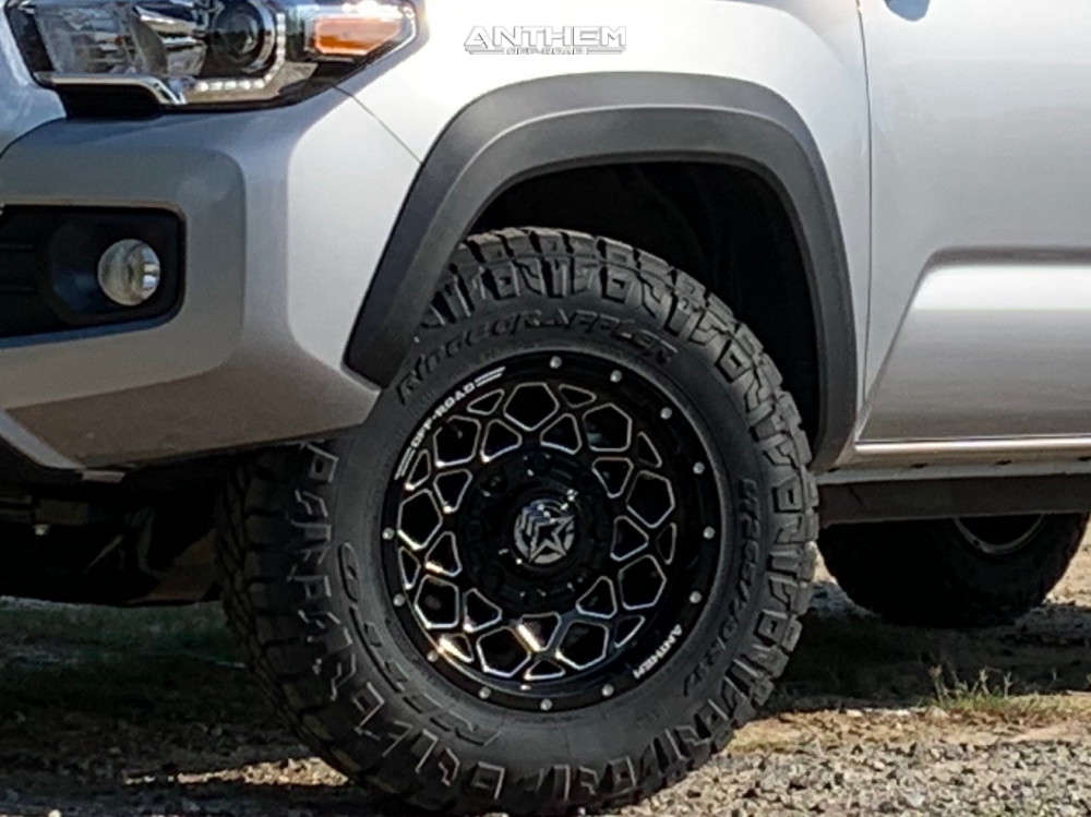 8 2020 Tacoma Toyota Stock Air Suspension Anthem Off Road Avenger Machined Black