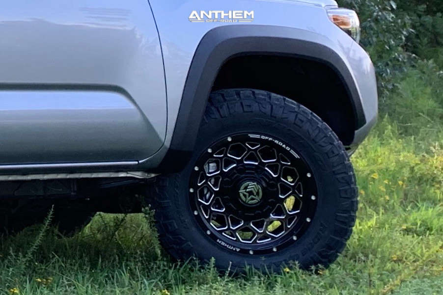9 2020 Tacoma Toyota Stock Air Suspension Anthem Off Road Avenger Machined Black