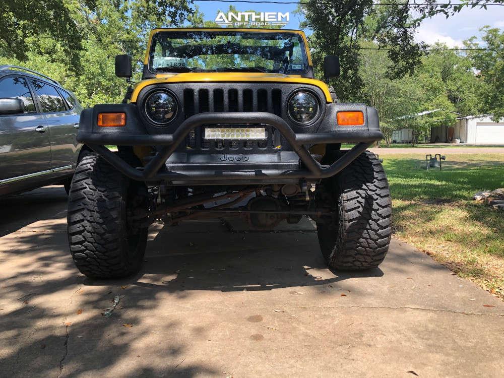 2 2000 Tj Jeep Se Rubicon Express Super Flex Suspension Lift 45in Anthem Off Road Intimidator Black