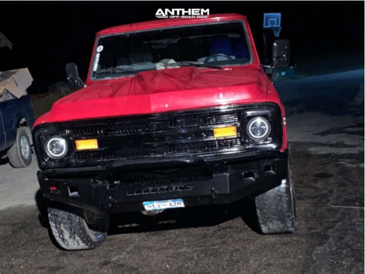 2 1972 K10 Pickup Chevrolet Rough Country Suspension Lift 4in Anthem Off Road Equalizer Black