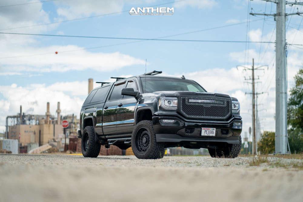 2 2017 Sierra 1500 Gmc Fabtech Suspension Lift 4in Anthem Off Road Viper Matte Black