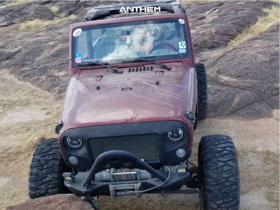 2 2008 Wrangler Jeep X Custom Suspension Lift 85in Anthem Off Road Gunner Machined Black