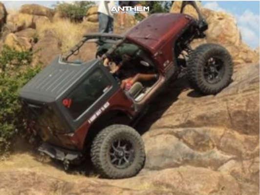 3 2008 Wrangler Jeep X Custom Suspension Lift 85in Anthem Off Road Gunner Machined Black