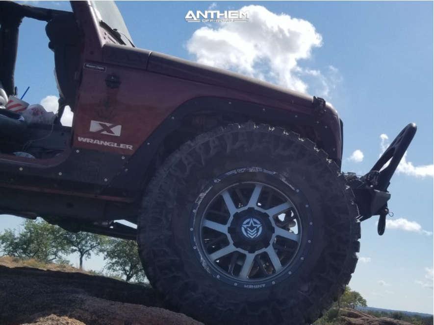 5 2008 Wrangler Jeep X Custom Suspension Lift 85in Anthem Off Road Gunner Machined Black