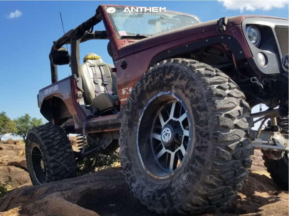 9 2008 Wrangler Jeep X Custom Suspension Lift 85in Anthem Off Road Gunner Machined Black