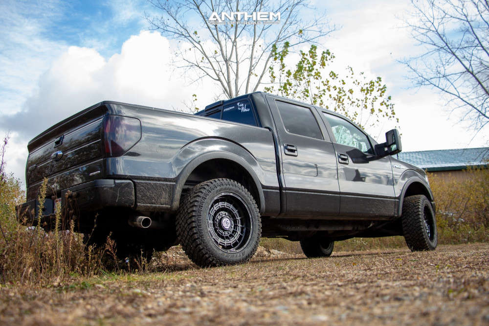 4 2014 F 150 Ford Rough Country Suspension Lift 3in Anthem Off Road Viper Black
