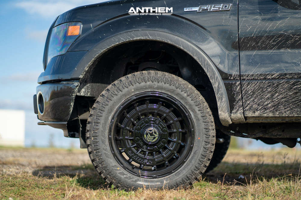 5 2014 F 150 Ford Rough Country Suspension Lift 3in Anthem Off Road Viper Black