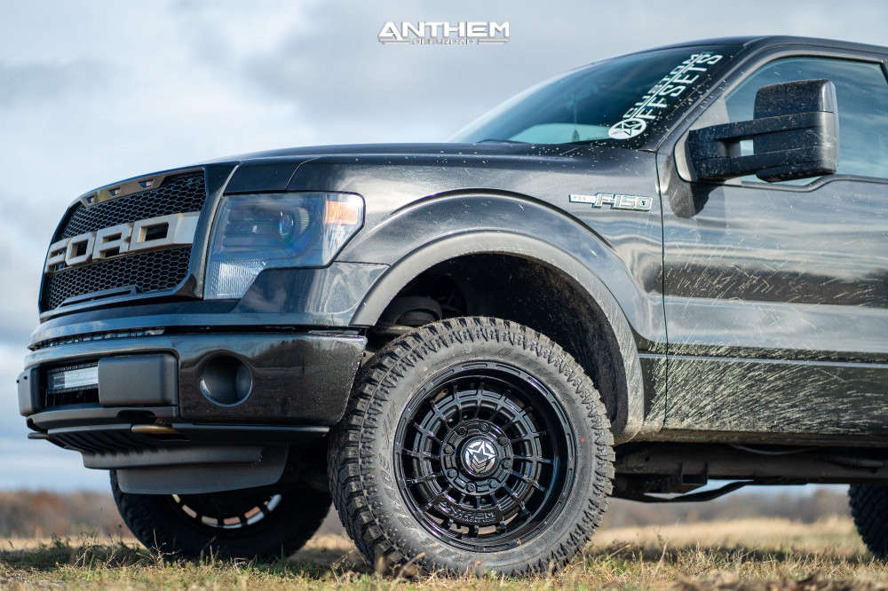 8 2014 F 150 Ford Rough Country Suspension Lift 3in Anthem Off Road Viper Black