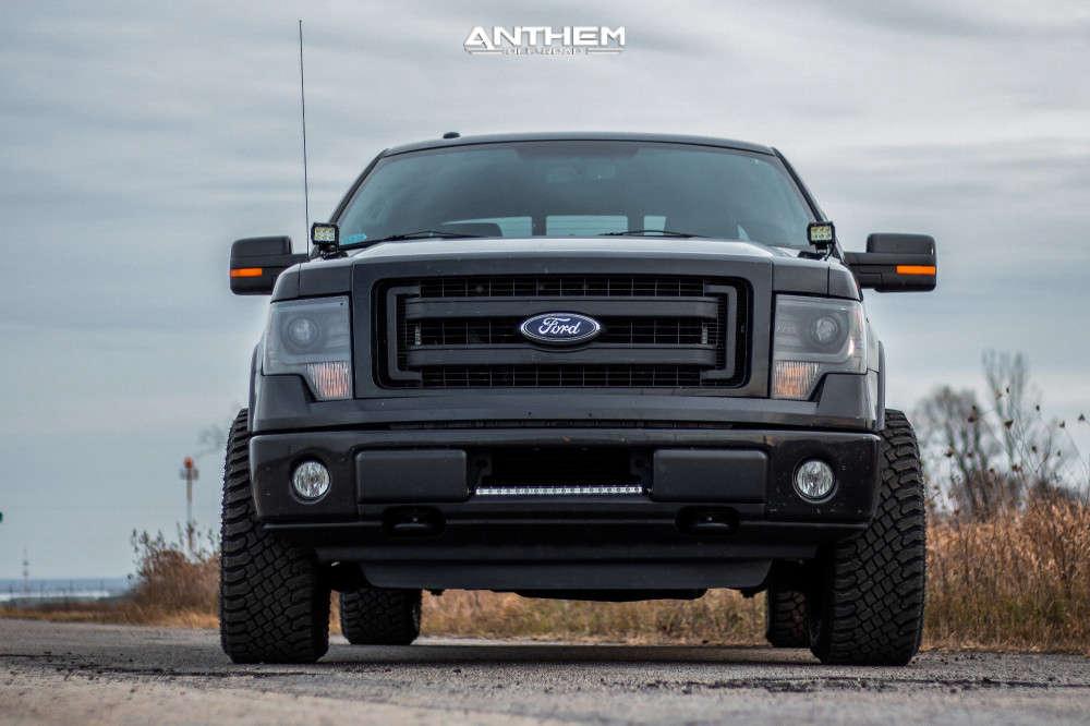 2 2014 F 150 Ford Stock Air Suspension Anthem Off Road Viper Black