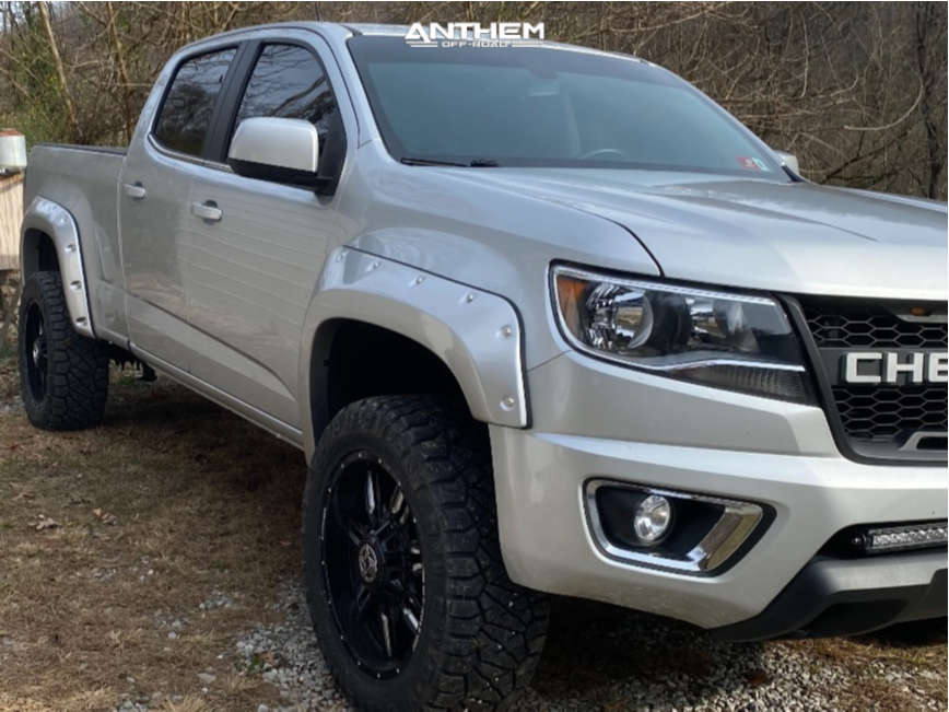 1 2018 Colorado Chevrolet Autospring Suspension Lift 25in Anthem Off Road Equalizer Machined Black