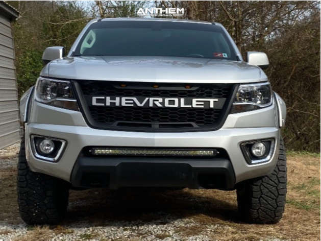 2 2018 Colorado Chevrolet Autospring Suspension Lift 25in Anthem Off Road Equalizer Machined Black