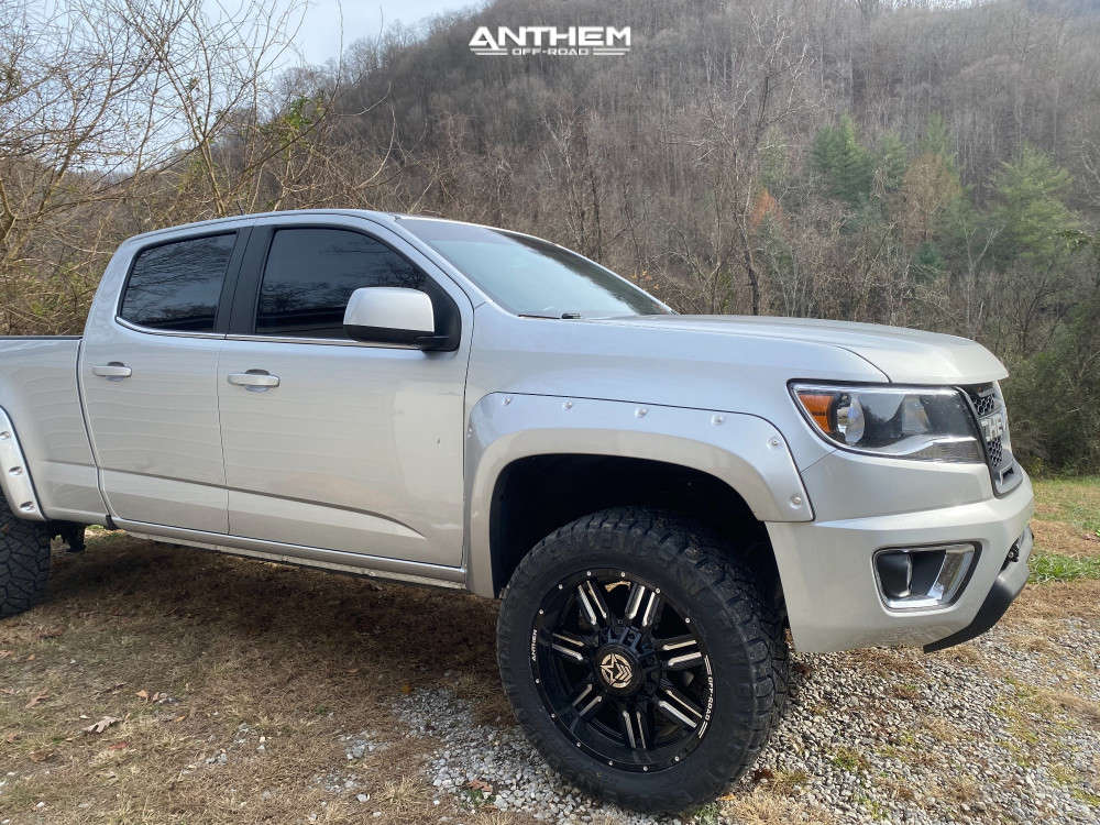 4 2018 Colorado Chevrolet Autospring Suspension Lift 25in Anthem Off Road Equalizer Machined Black
