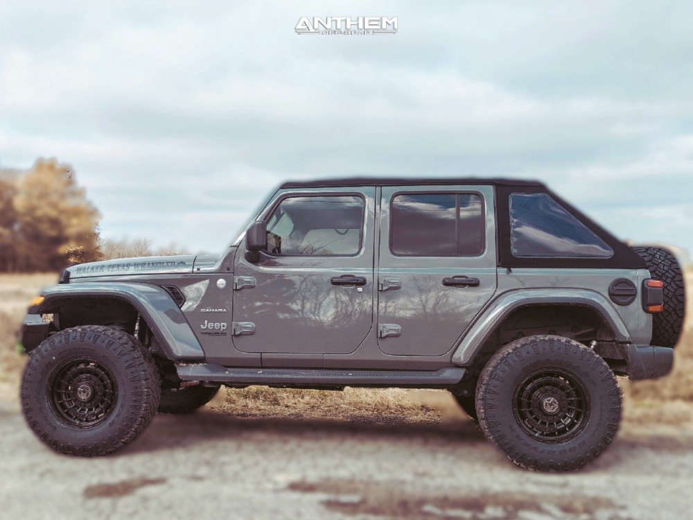 12 2018 Wrangler Jeep Unlimited Sahara Teraflex Suspension Lift 25in Anthem Off Road Viper Black