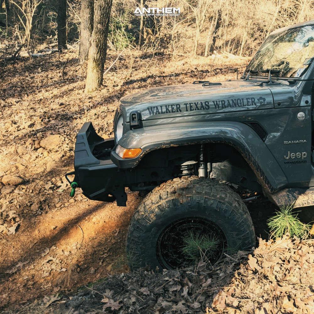 15 2018 Wrangler Jeep Unlimited Sahara Teraflex Suspension Lift 25in Anthem Off Road Viper Satin Black