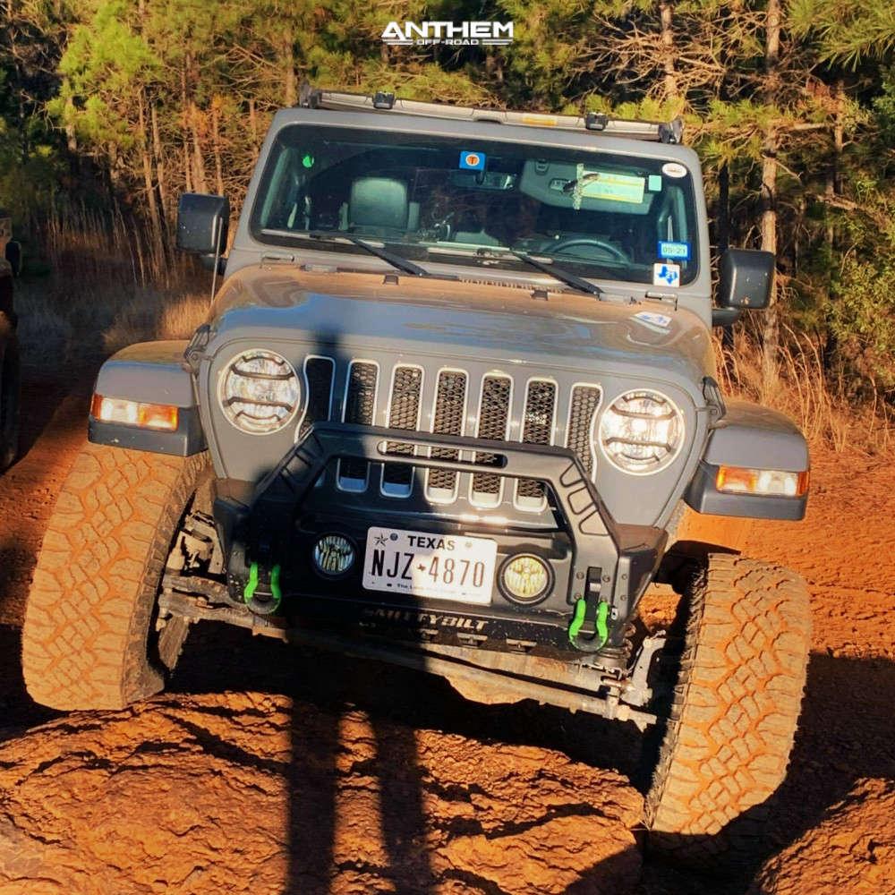 2 2018 Wrangler Jeep Unlimited Sahara Teraflex Suspension Lift 25in Anthem Off Road Viper Satin Black