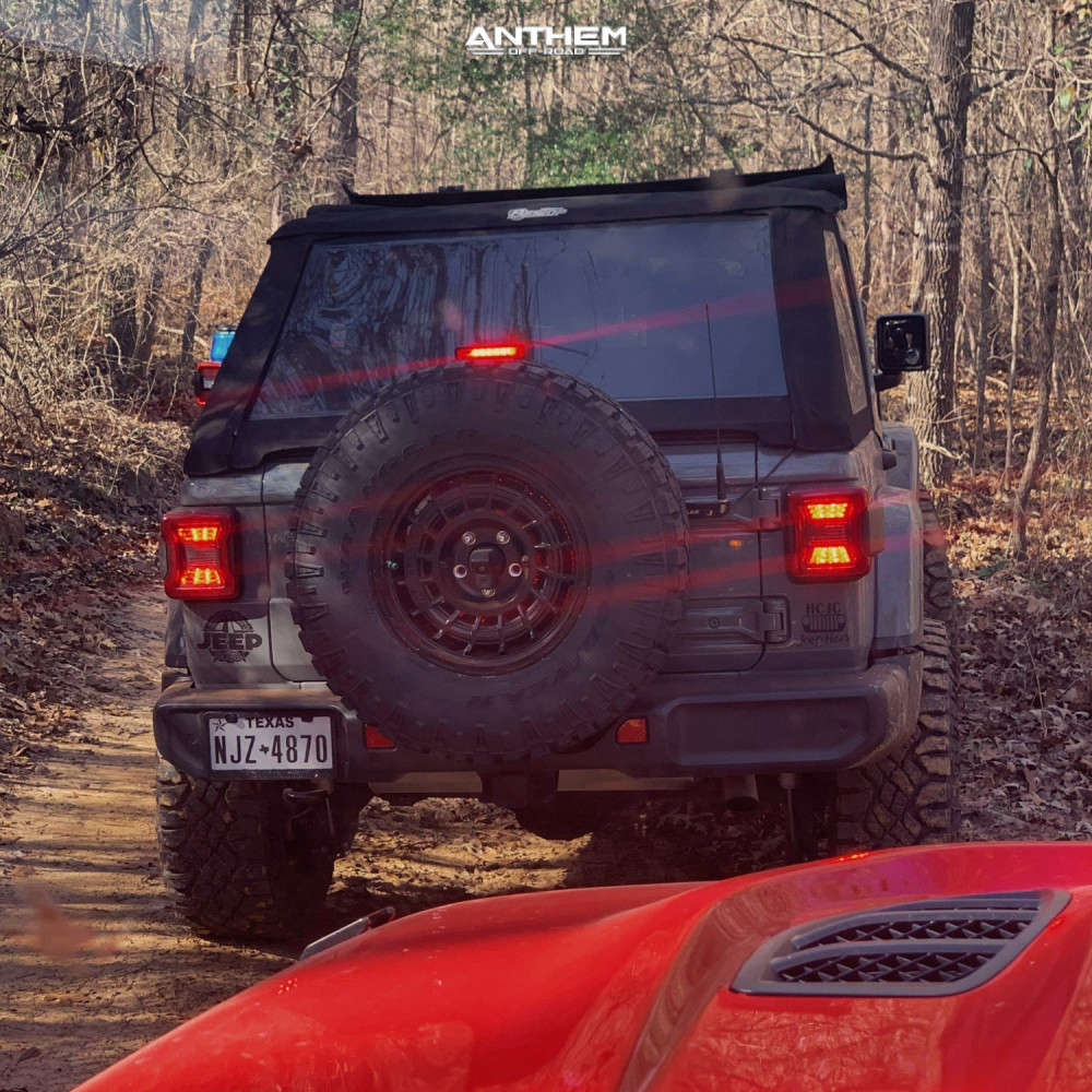 3 2018 Wrangler Jeep Unlimited Sahara Teraflex Suspension Lift 25in Anthem Off Road Viper Satin Black