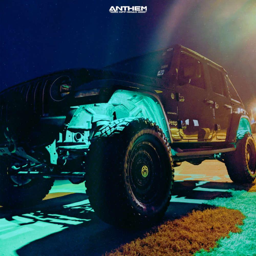 7 2018 Wrangler Jeep Unlimited Sahara Teraflex Suspension Lift 25in Anthem Off Road Viper Satin Black