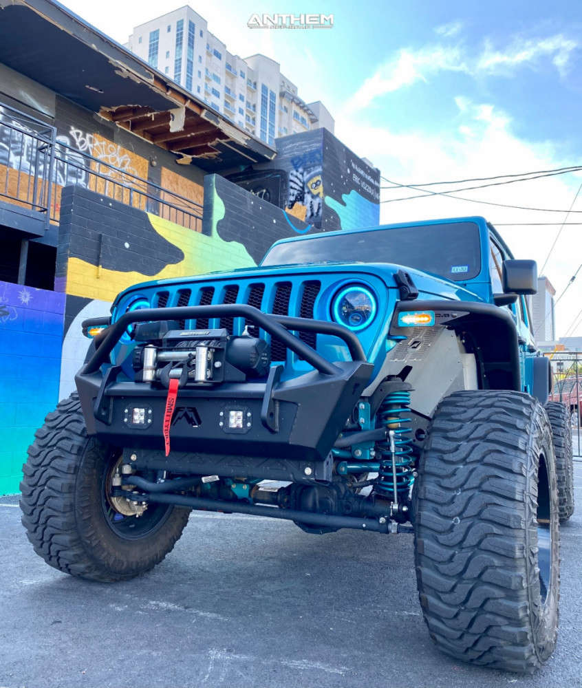 5 2020 Wrangler Jeep Unlimited Sport Rough Country Suspension Lift 6in Anthem Off Road Equalizer Machined Black