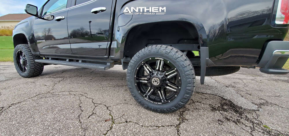 14 2016 Canyon Gmc Rough Country Suspension Lift 4in Anthem Off Road Equalizer Machined Black