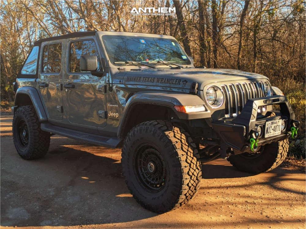 1 2018 Wrangler Jeep Unlimited Sahara Teraflex Suspension Lift 25in Anthem Off Road Viper Matte Black